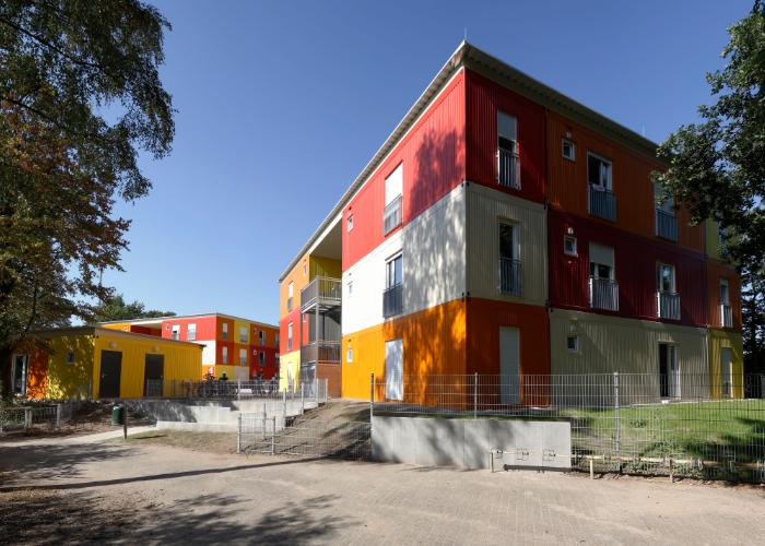 Übergangswohnheim für Flüchtlinge Corveystraße