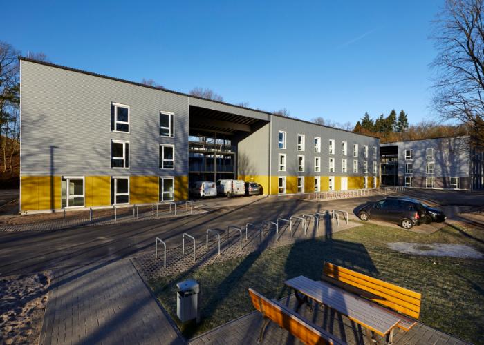 Übergangswohnheim für Flüchtlinge <br/ > am Rastplatz